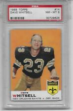 1969 TOPPS FOOTBALL #14 DAVE WHITSELL NEW ORLEANS SAINTS PSA 8 NM/MT