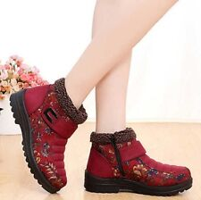 Womens Winter Fur Warm Snow Boots Faux Suede Fur Hot Ladies Fur Lined Zip Winter