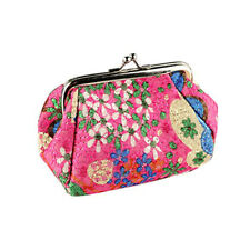 Womens Coin Purse Money Bag Case Wallet Keys Card Pouch Flower Hasp Handle