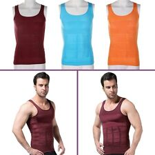 Men's Slimming Vest Top Slim Shirt Chest Belly Control Body Shapers S-XXL FK