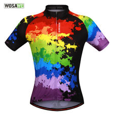 Mens Summer Bike Jersey Cycling Mountain Road Bicycle Shirt Race fit Breathable