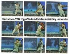 1997 Topps Stadium Club Members Only Instavision Baseball Set ** Pick Your Team