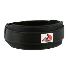 Black Weightlifting Belt Adjustable Neoprene Back Lumbar Support Body Therapy