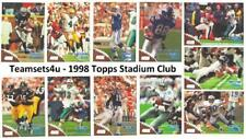 1998 Topps Stadium Club Football Set ** Pick Your Team **