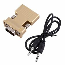 HDMI Female to VGA Male Converter with Audio Adapter Support 1080P Output LOT AQ
