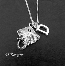 Stingray Necklace, Sterling Silver manta Ray Pendant Personalised