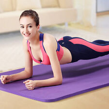 NBR Yoga Mat Gym Exercise Extra Thick Non Slip Fitness Pilates Physio Aerobic
