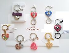 COACH Gold, Red Hearts, Crystals Key Rings, Valet Key Chains, FOBs, NWTs