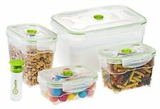 Seal'In Nestable Food Storage Vacuum Containers Set of 4 Sealed Microwavable and