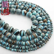 Wholesale 1Strand Pretty Multicolor Turquoise Round Loose Beads 15.5inch HH3582