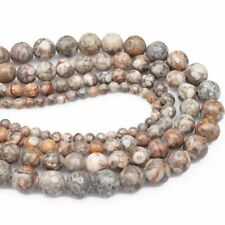 1Strand Beautiful Natural Brown Medical Stone Round Loose Beads 15.5inch HH3610