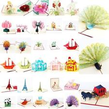 3D Pop Up Cards and Greeting Cards Romantic Valentines Day Gift Cards -33 Types
