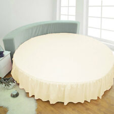 1 Piece Solid Round Dust Ruffle Bed skirt with 40 CM drop 100% Egyptian Cotton