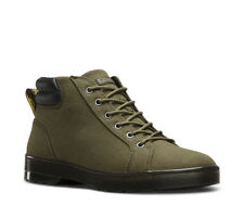 NEW Mens DR. MARTENS Mid Olive Heavyweight Canvas PLAZA 6-EYE Ankle Boots Shoes