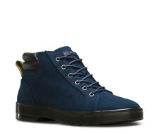 NEW Mens DR. MARTENS Navy Heavyweight Canvas PLAZA 6-EYE Ankle Boots Shoes