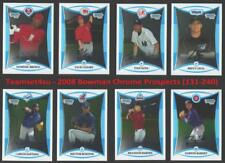 2008 Bowman Chrome Prospects (131-240) Baseball Set ** Pick your Team **