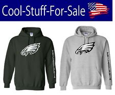 Philadelphia Eagles Logo Football Pullover Hooded Sweatshirt