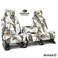 Coverking Skanda Mossy Oak Winter Camo Front Seat Covers for Toyota Tacoma
