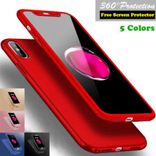Ultra Thin Hard Case Cover For iPhone X 6 6S 7 8 iPhone8 Plus & Screen Protector