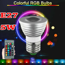 5W E27 16 Colors Changing RGB LED Light Lamp Spot Bulb With Remote Control LOT