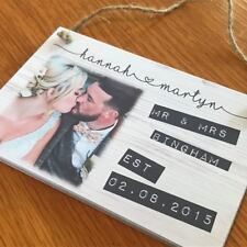 WEDDING PHOTO PERSONALISED PLAQUE SIGN GIFT QUOTE GIFT WOODEN WOOD UNIQUE GIFT