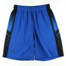Under Armour 2920 Mens Royal Black Supervent Woven Running Athletic Shorts Small