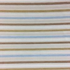 Natural Off White Chenille Stripe Upholstery | Fire Resistant Fabric Material