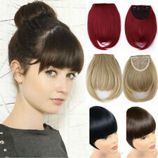 Synthetic Hair Natural Hair Extension Clip In Front Hair Bangs Fringe for human.