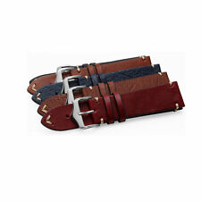 20 22 24mm VINTAGE Calf Leather Wrist Watch Band Strap For Oyster GMT DAYTONA