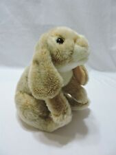 "Animal Alley Bunny Rabbit Plush Realistic Stuffed Toy Tan Cream 13"" Floppy Soft"