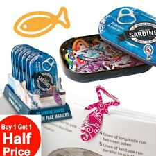 Buy 1 Get 1 50% OFF (add 2 to cart) Sardines Clip On Page Markers (Tin of 50)