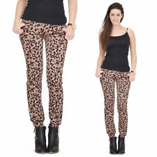 New Womens Ladies Animal Leopard Print Slim Skinny Jeans Fitted Stretch Trousers