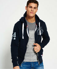 New Mens Superdry Trackster Vintage Zip Hoodie Truest Navy