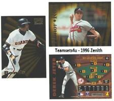 1996 Zenith Baseball Set ** Pick Your Team **