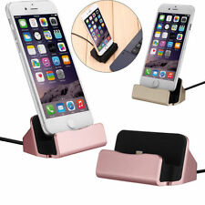 Desktop Charger Dock Charging Sync For iPhone 5 6s 7 Android Phones With Cable