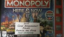 Monopoly Here & Now America Has Voted Game Replacement Pieces 2015 Free Shipping