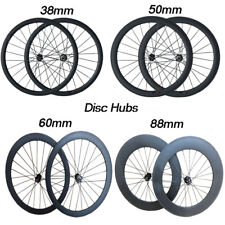 24 38 50 60 88mm Deep Disc Hub Front and Rear single Carbon Wheels Bike wheelset