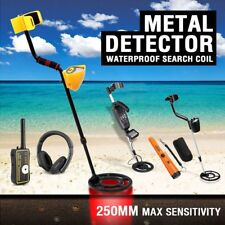 Deep Sensitive Metal Detector Gold Coils Digger Pinpointer Treasure Hunter Sand