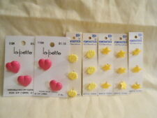 Springtime Craft/Sewing Buttons - New - Hearts/Stars/Flowers - Free Shipping