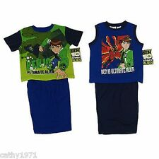 NEW Licensed Boys Ben 10 Summer Pjs/Pyjamas - Size 3 - Two Styles