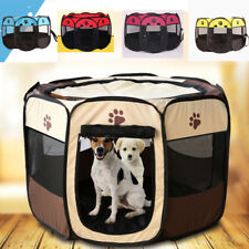Pet Dog Cat Playpen Tent Portable Exercise Fence Kennel Cage Folding Crate USA