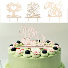 We Do Mr Mrs Tree Bride And Groom Wooden Wedding Engagement Party Cake Decor New