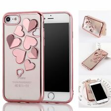 Butterfly Love Heart Glossy Silicone Rubber Soft Case Cover For iPhone X 8 7Plus