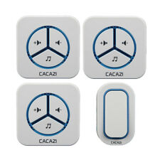 48 Melody Chime UK Plug Wireless Remote Control Door Bell Alarm for Home