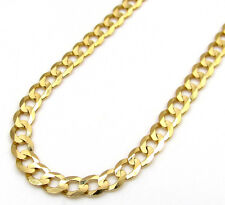 """SOLID 10K Yellow Gold 3MM Cuban Curb Link Chain Necklace 18""""-24"""" Inches"""