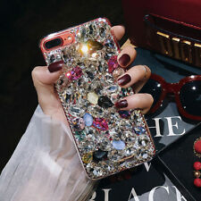 3D Bling Crystal Sparkle Rhinestone Case Cover For iPhone X 7 Plus Samsung S8 +
