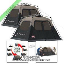 Coleman Instant Tent 4 Person, 6 Person Outdoor Family Camping Dome Cabin Tents