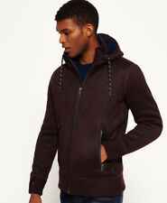 New Mens Superdry Expedition Zip Hooded Jacket Dark Port