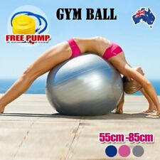 Anti-Burst Swiss Yoga Ball - Home Gym Fitness Pilates Exercise Balance w/ Pump H
