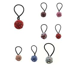 Black Hair Ties Band Elastic Hair Rope with Shining Ball for Ponytail Holder